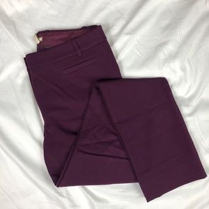 J. Crew Lexie Pant Purple Slim Ankle